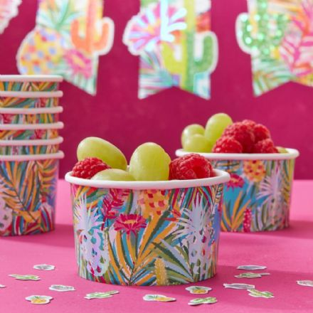 Tropical Hot Summer Paper Treat Tubs - Pack of 8